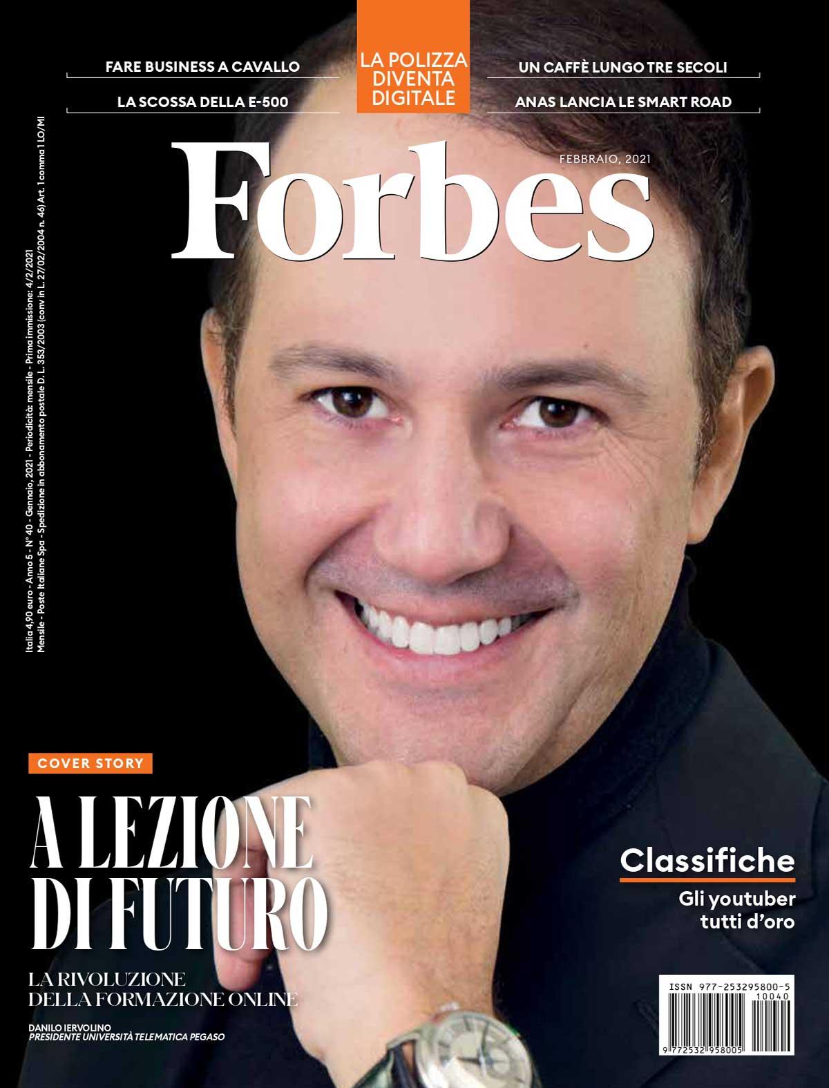 Copertina Forbes febbraio 2021